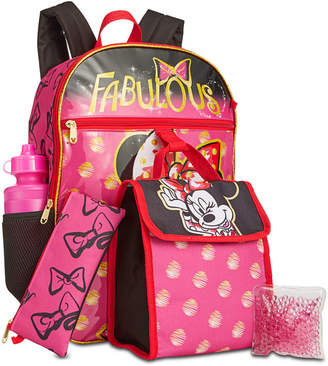 Bioworld Little & Big Girls 5-Pc. Minnie Mouse Backpack & Lunch Kit Set