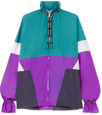 Vetements Color-block Shell Blouse - Turquoise