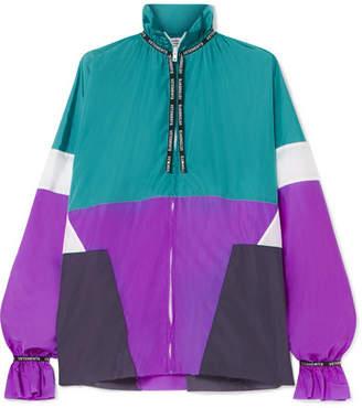Vetements Color-block Shell Blouse - Turquoise