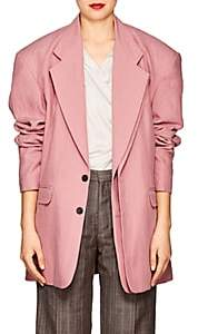 Y/Project Women's Linen Two-Button Jacket-Pink