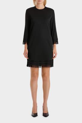 DKNY 3/4 Slv Dress W/ Fringe