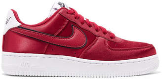 Nike Air Force 1 '07 Se Terry And Leather-trimmed Satin Sneakers - Claret