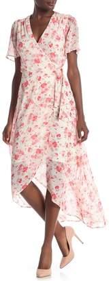 Rabbit Rabbit Rabbit Floral Printed Wrap Dress