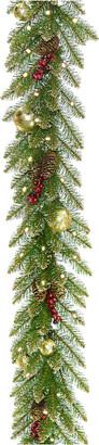 Dunhill National Tree 9'X 10In Glittery Gold Fir Garland