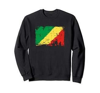 Republic of the Congo Flag Sweatshirt Distressed Vintage