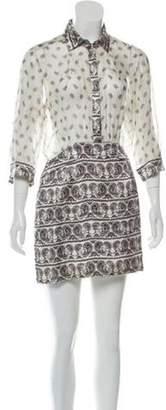 Pierre Balmain Silk Mini Dress White Silk Mini Dress