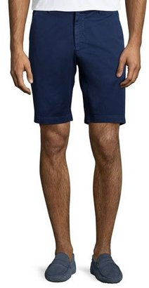 Robert Graham Pioneer Cotton Twill Flat-Front Shorts $98 thestylecure.com