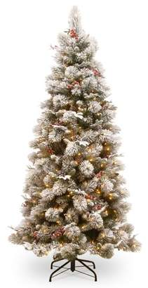 """clear Darby Home Co Slim 90"""" Green Pine Artificial Christmas Tree with 500 Lights with Stand"""