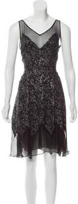 Christopher Kane Silk Printed Cocktail Dress Black Silk Printed Cocktail Dress