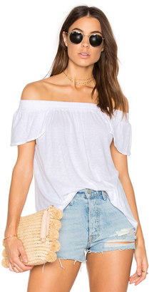 Michael Stars Luxe Off Shoulder Tee $74 thestylecure.com