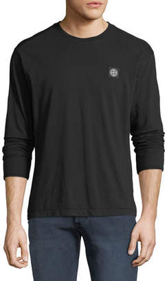 Stone Island Men's Chest-Logo Long-Sleeve T-Shirt