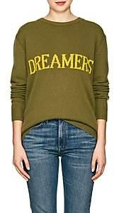 "Alberta Ferretti Women's ""Dreamers"" Wool-Cashmere Sweater - Olive"