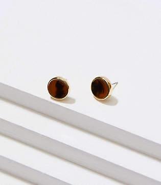 LOFT Tortoiseshell Print Stud Earrings