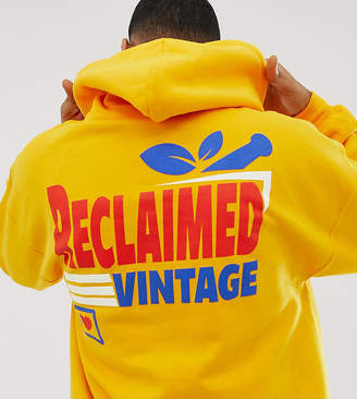 Reclaimed Vintage inspired oversized hoodie with supermarket logo print