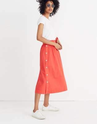 Madewell Side-Button Skirt