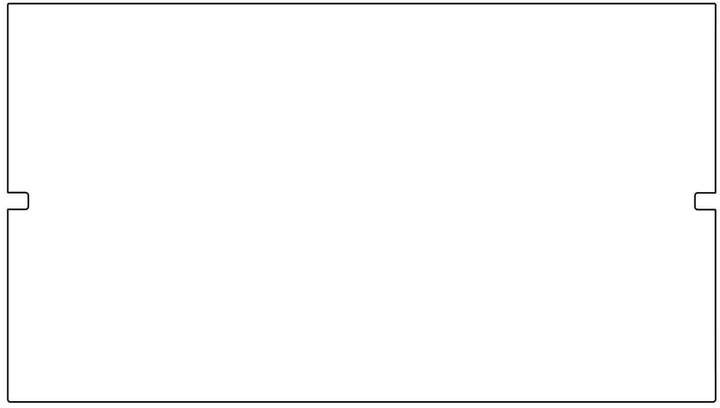 Kaether & Weise Plattenbau, Weiß - Rückwand 62cm, Fachhöhe: 35cm