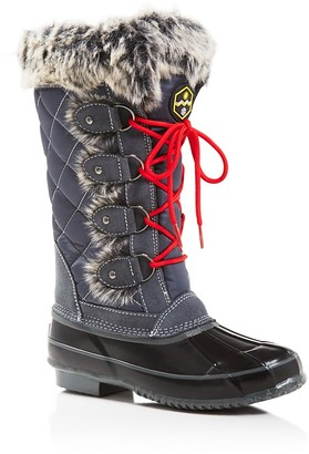 Khombu Jandice Faux-Fur Lace Up Cold Weather Boots $129 thestylecure.com