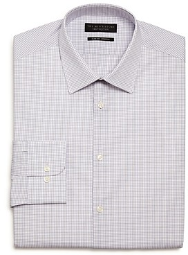 The Men's Store At The Men's Store Checked Stretch Slim Fit Dress Shirt