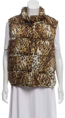 Oscar de la Renta Silk Puffer Vest brown Silk Puffer Vest