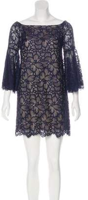 Trina Turk Off Shoulder Lace Mini Dress w/ Tags