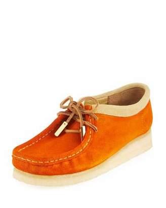 Sycamore Style Women's Suede Moc Wallabee Shoe, Garden Orange