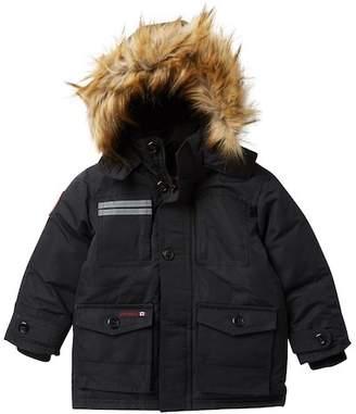 Canada Weather Gear Faux Fur Hood Reflective Parka (Little Boys)