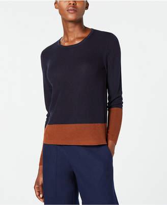 Eileen Fisher Tencel Long-Sleeve Colorblocked Sweater