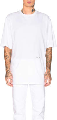 Calvin Klein Logo Cotton Jersey in Optic White | FWRD