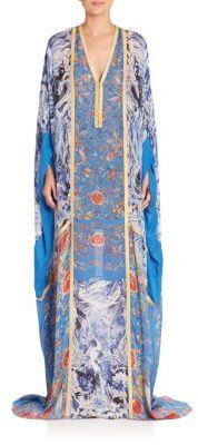 Roberto Cavalli Printed Silk Caftan Gown $2,525 thestylecure.com