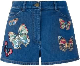 Valentino 'Jamaica Butterflies' denim shorts