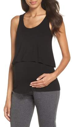 Belabumbum Maternity/Nursing Layered Sleep Tank