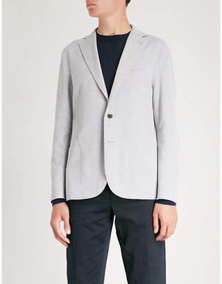 Eleventy Regular-fit textured cotton-blend jacket