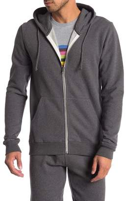 Knowledge Cotton Apparel Melange Knit Zip Up Hoodie