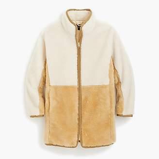J.Crew Colorblock zip-up teddy coat