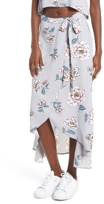 Women's J.o.a. Floral Wrap Skirt $69 thestylecure.com