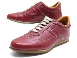 Hermes Red Leather Trainers