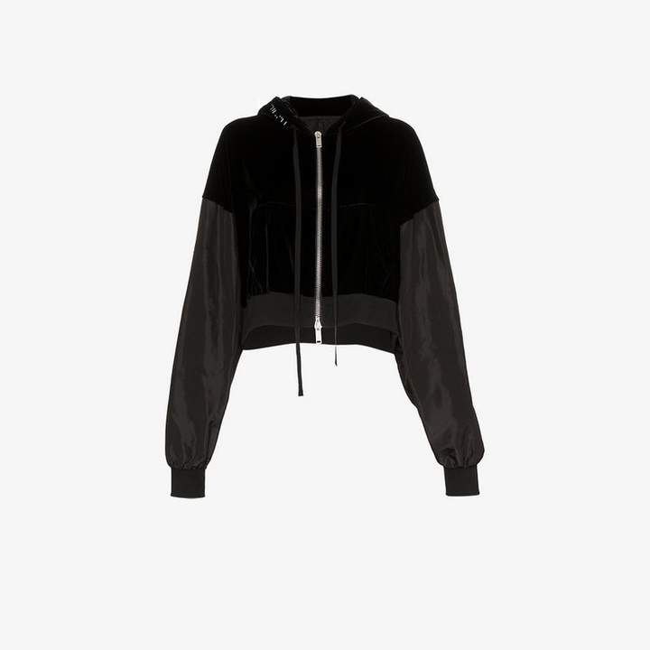 Unravel Project Cropped Panel Hooded Jacket