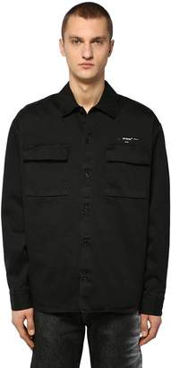 Off-White Off White Cotton Canvas Work Shirt