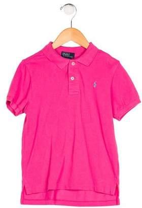Polo Ralph Lauren Girls' Short Sleeve Polo Top