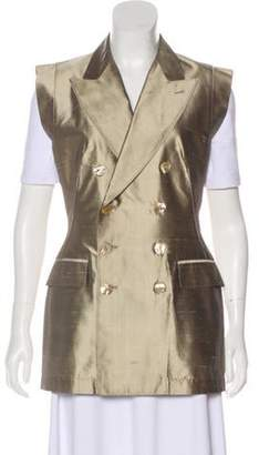 Jean Paul Gaultier Silk Peak-Lapel Vest Gold Silk Peak-Lapel Vest