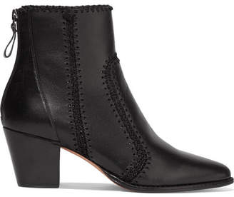 Alexandre Birman Benta Whipstitched Leather Ankle Boots - Black