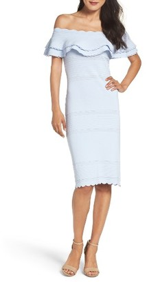 Women's Eliza J Off The Shoulder Sheath Dress $138 thestylecure.com