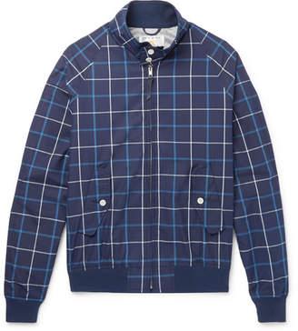 GoldenBear Golden Bear - Grid-Checked Cotton-Poplin Blouson Jacket - Men - Navy