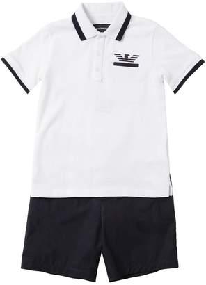 357f9e95 Emporio Armani Piqué Polo & Poplin Shorts