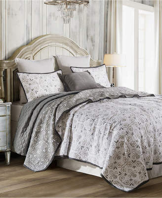 Hiend Accents Fleur De Lis 2 Pc Twin Quilt Set