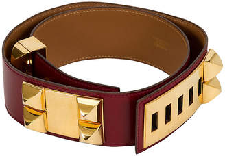 One Kings Lane Vintage HermAs Collier de Chien Rouge H Belt - Vintage Lux
