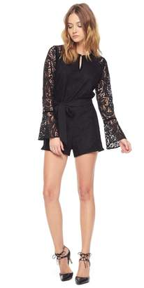Juicy Couture Two-Tone Leafy Lace Romper
