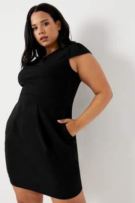 f71f974620ca Next Womens Mela London Curve Cap Sleeve Tulip Dress