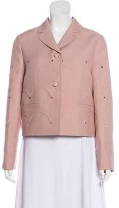 Valentino Virgin Wool & Silk Notch-Lapel Jacket w/ Tags