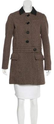 Louis Vuitton Wool Knee-Length Coat